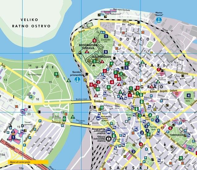 mapa grada beograda Upoznajte Beograd   turistički vodič mapa grada beograda