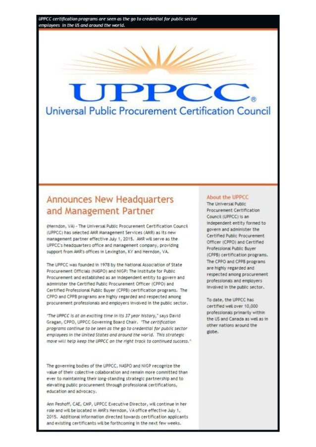 Uppcc News Release Regarding Amr