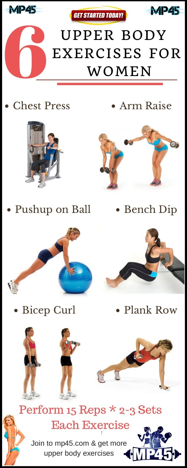 6 Exercises For Women To Increase Strength Of Upper Body