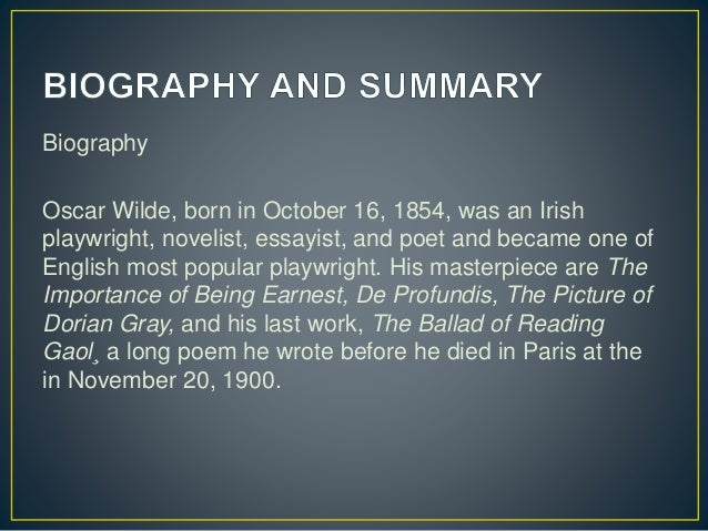 Oscar Wilde Biography