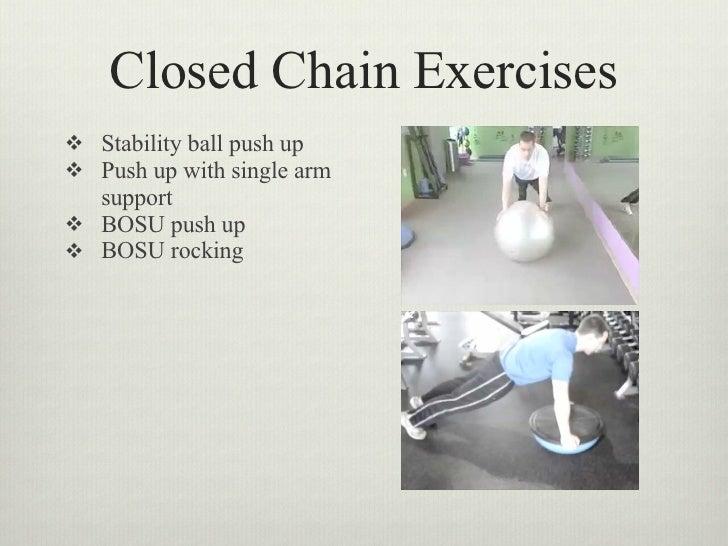 closed chain knee exercises pdf