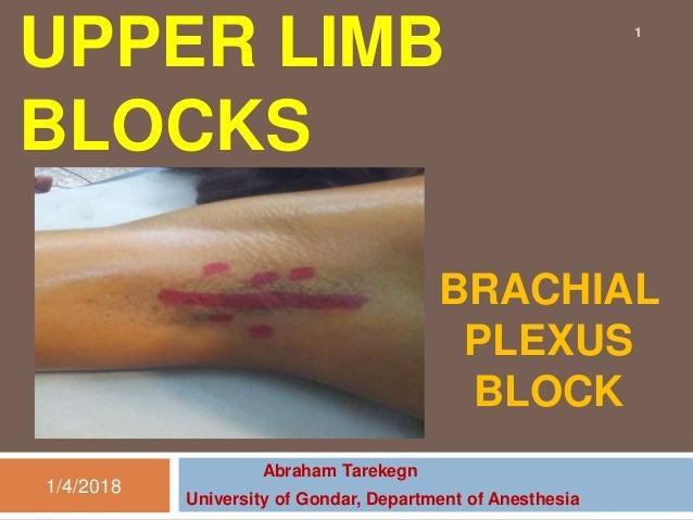 Upper limb blocks
