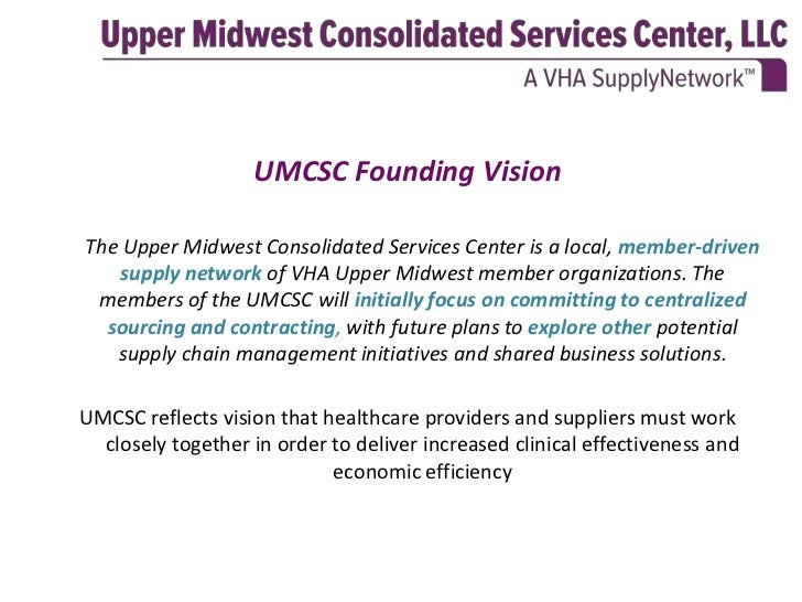 Upper midwest consolidated services center for Consol service