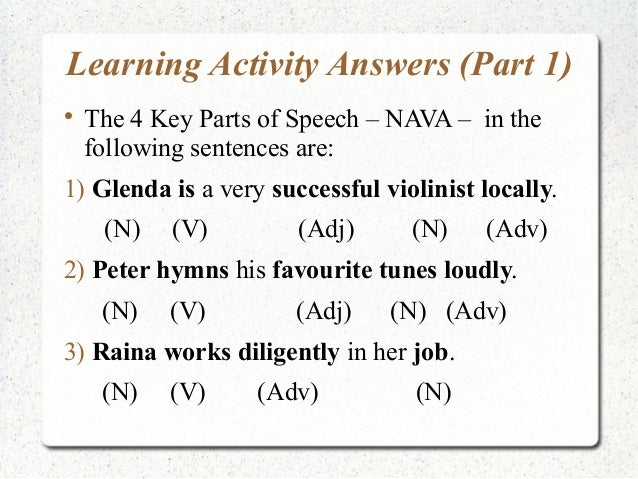 Upper Pri A - Key parts of speech and introduction to phrases