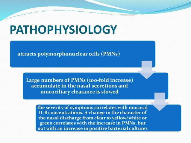 Pathophysiology of acute respiratory infection