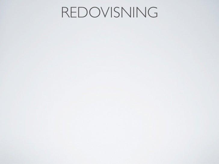 REDOVISNING