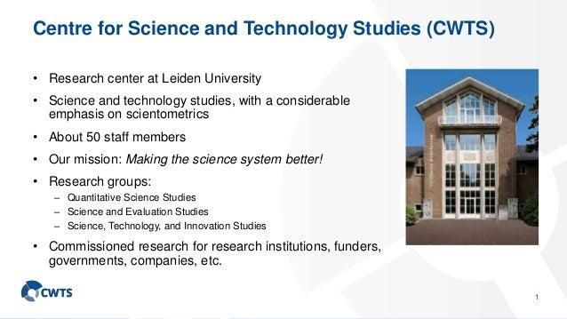 CWTS Leiden Ranking: An advanced bibliometric approach to university ranking Slide 2