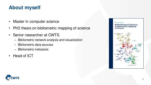 CWTS Leiden Ranking: An advanced bibliometric approach to university ranking Slide 3