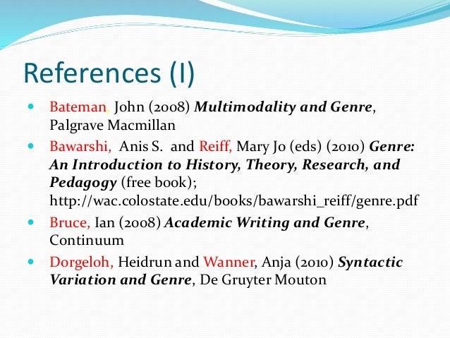 genre an introduction to history theory research and pedagogy pdf