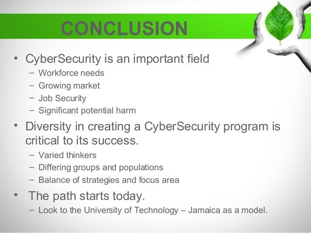 conclusion of cyber security Creating A Diverse CyberSecurity Program