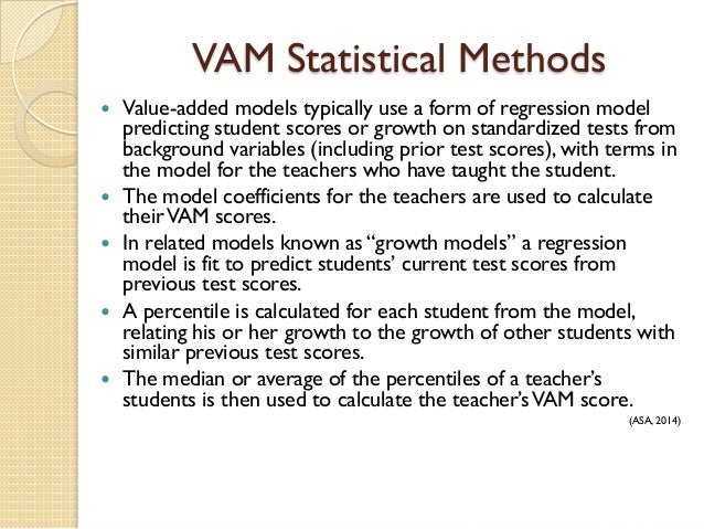 Educational policy and its impact on teacher preparation and evaluati 18 vam statistical methods publicscrutiny Gallery