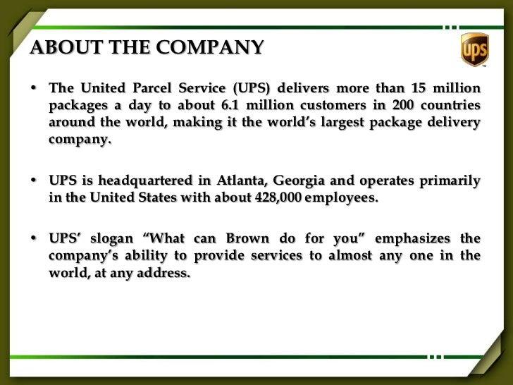 Strategic Planning at United Parcel Service