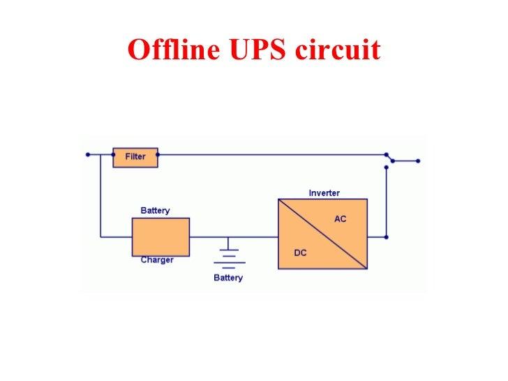 ups rh slideshare net Converter Circuit Diagram online and offline ups circuit diagram