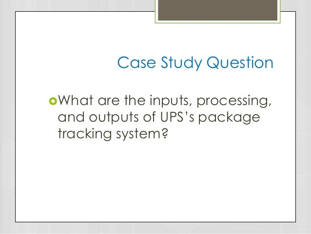 PPT – UPS Case Study Lance Williams PowerPoint ...