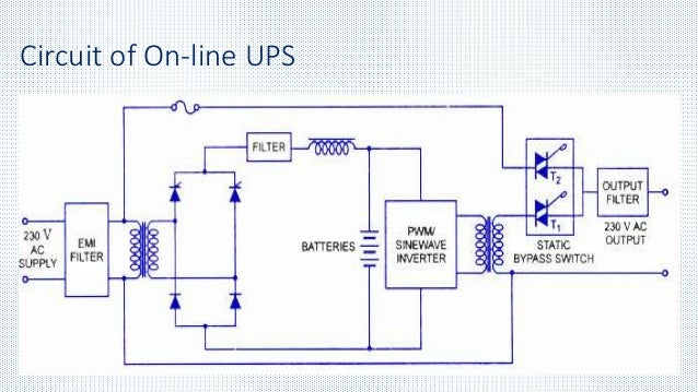 Uninterrupted Power Supply Circuit Diagram | Ups Uninterrupted Power Supply