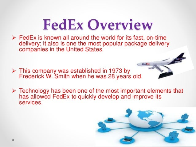 An overview of fedex and ups