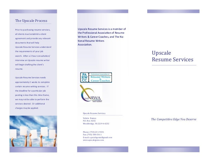 Upscale Resume Services Brochure