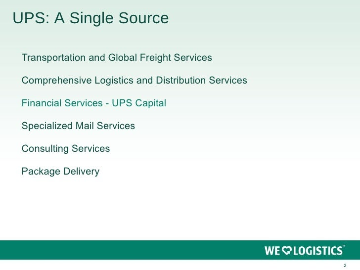 ups supply chain solutions inc