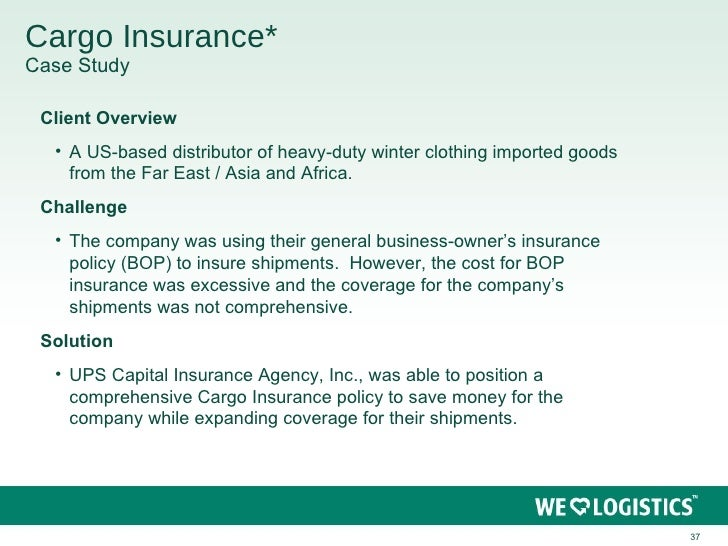 Cargo insurance claims case studies
