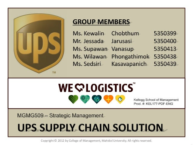 ups supply chain solutions