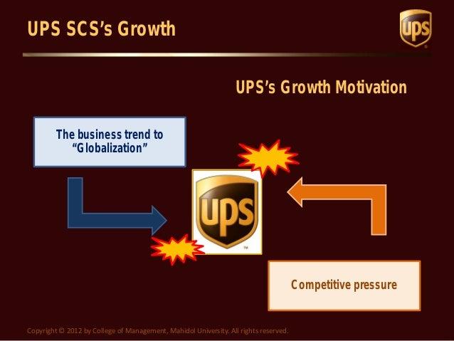 UPS SCS Case Study