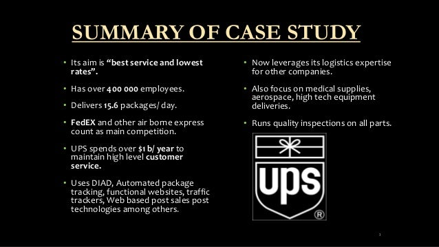 ups diad case study Case studies best practice case studies ups parcel delivery tracking application - updated in june 2001  ups has replaced its diad hardware to diad iii.