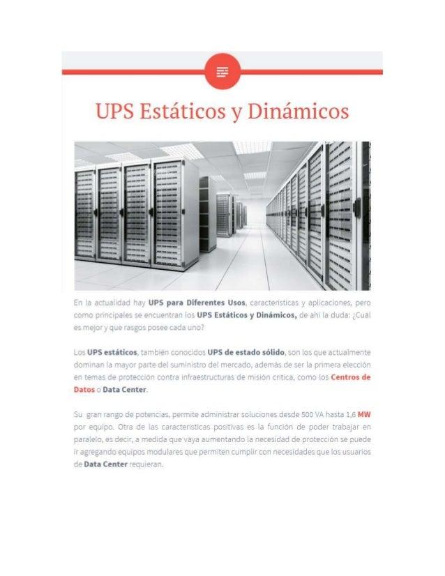 UPS dinamicos y estaticos