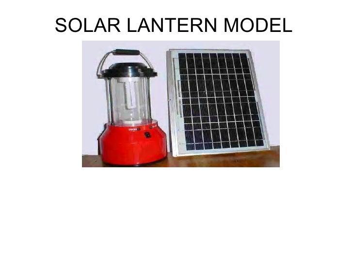 SOLAR LANTERN MODEL