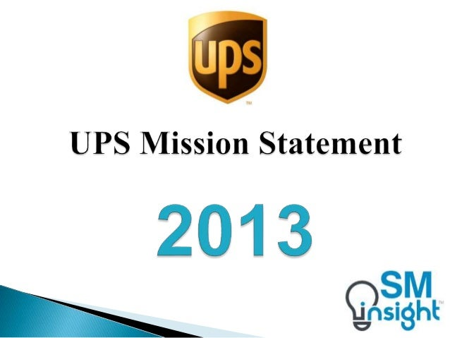 united parcel service mission statement