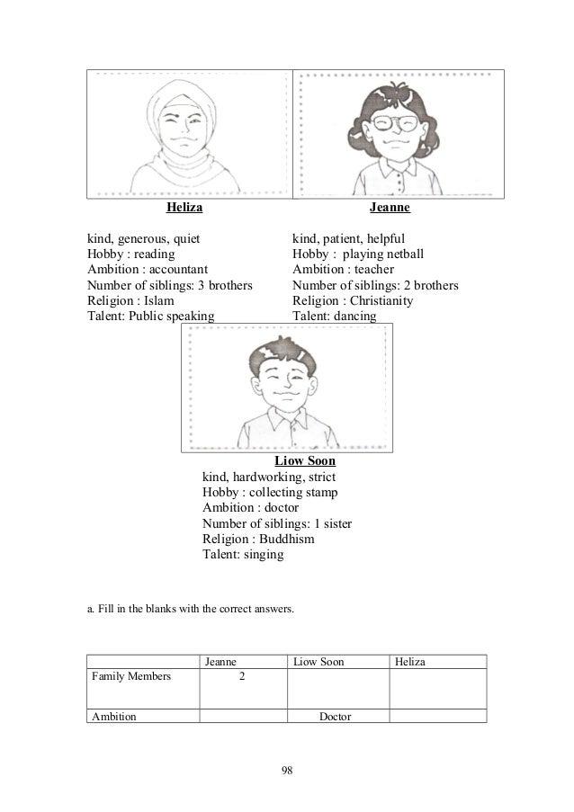 Upsr english paper 2 section 2 worksheets for weaker pupils – Public Speaking Worksheets