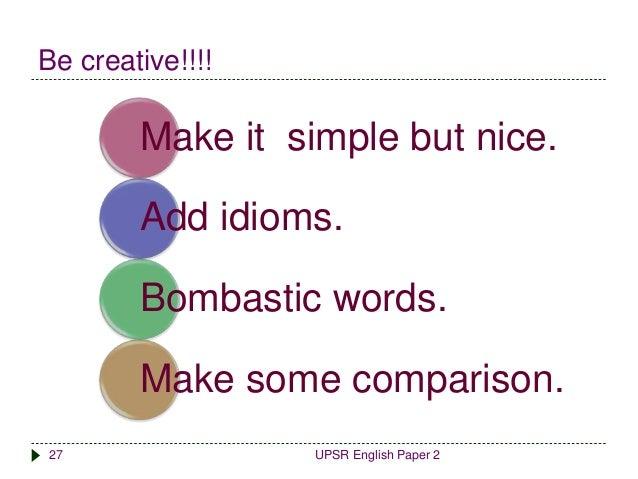 Upsr English Paper 2 Section C Marking Scheme