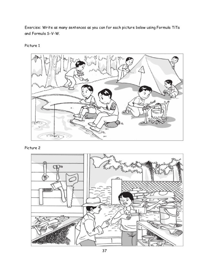 upsr pre writing module sentence construction  exercise write