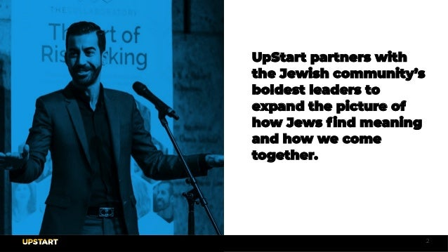 UpStart's Culture Deck Slide 2