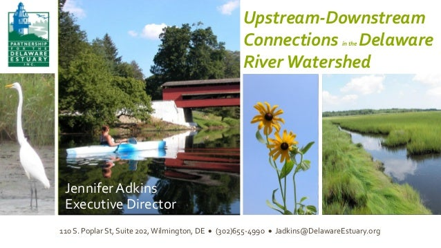 Jennifer Adkins, Executive Director Partnership for the Delaware Estuary  Upstream-Downstream Connections Delaware River W...