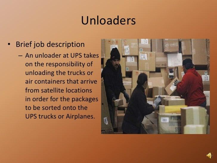 Different Physical Job Aspects At UPSu003cbr /u003e; 6.