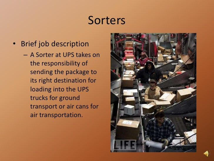 Ups webinar 1 – Package Handler Job Description