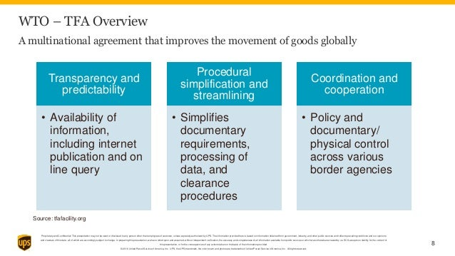 Ups Wto Trade Facilitation Agreement Webinar Powerpoint