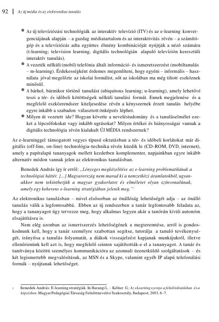 Forgó Sándor: Az  új média és az elektronikus tanulás Slide 2