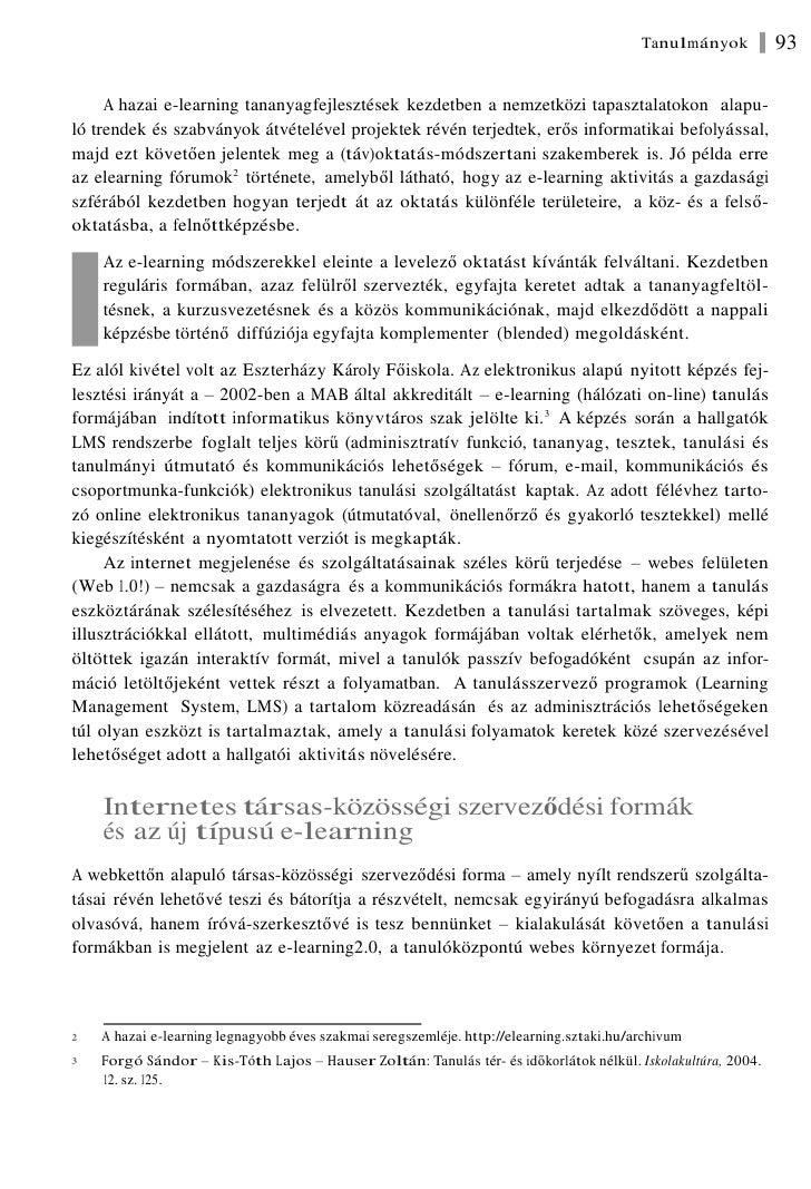 Forgó Sándor: Az  új média és az elektronikus tanulás Slide 3