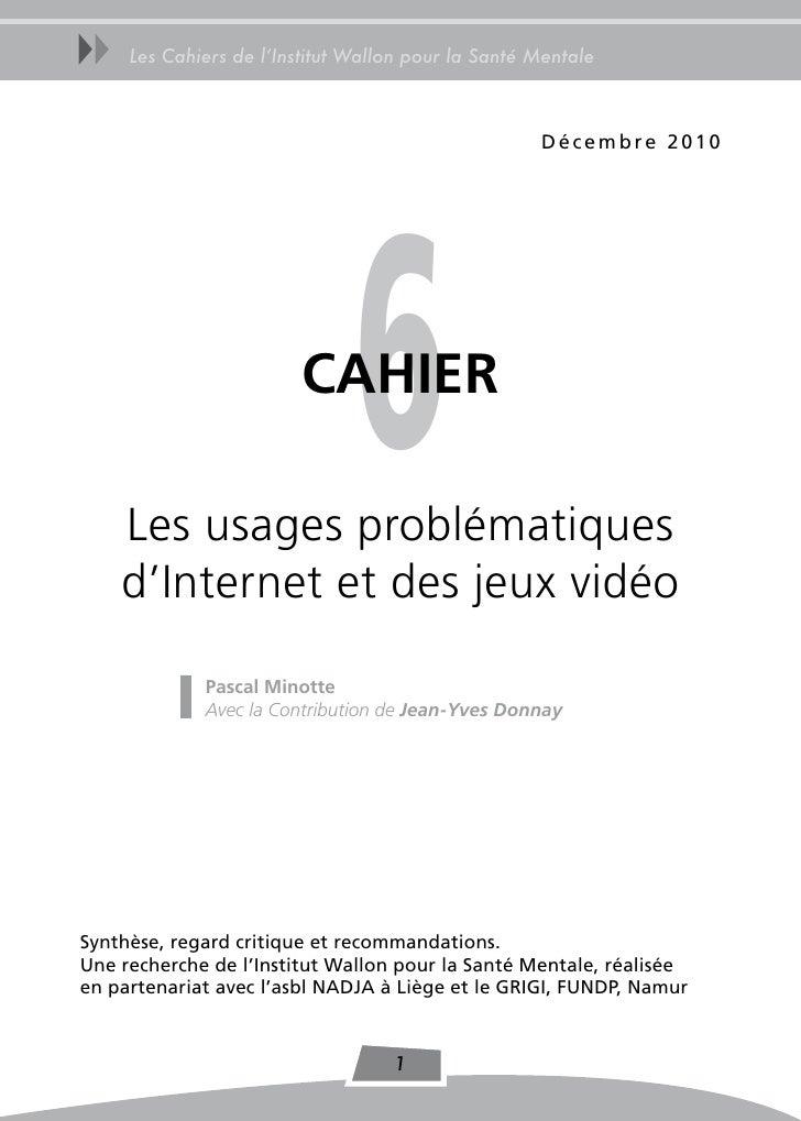 uu   Les Cahiers de l'Institut Wallon pour la Santé Mentale                                                    Décembre 20...