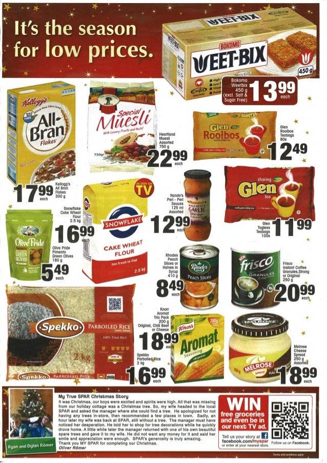 Kleinmond Spar Specials Up To And Including 18 November 2012
