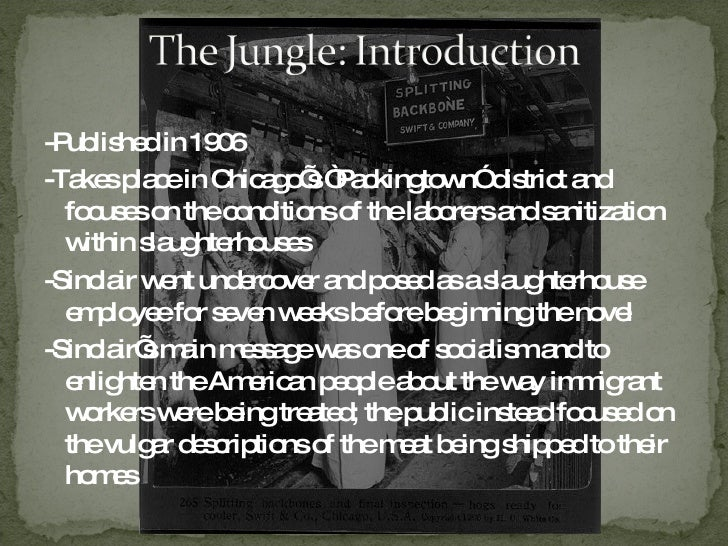 what was the outcome of upton sinclairs the jungle essay Upton's sinclair's the jungle was a novel based on one employee who worked for a chicago's meat-packing factory this detailed novel described horrendous conditions and gruesome visions of contaminated meat.