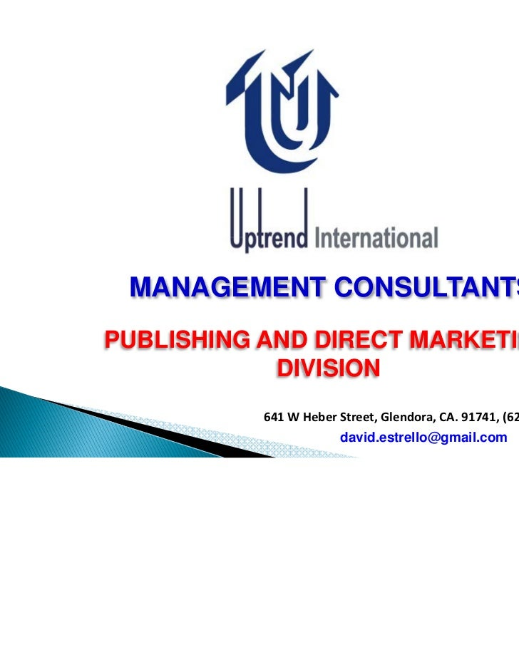 MANAGEMENT CONSULTANTSPUBLISHING AND DIRECT MARKETING            DIVISION           641 W Heber Street, Glendora, CA. 9174...