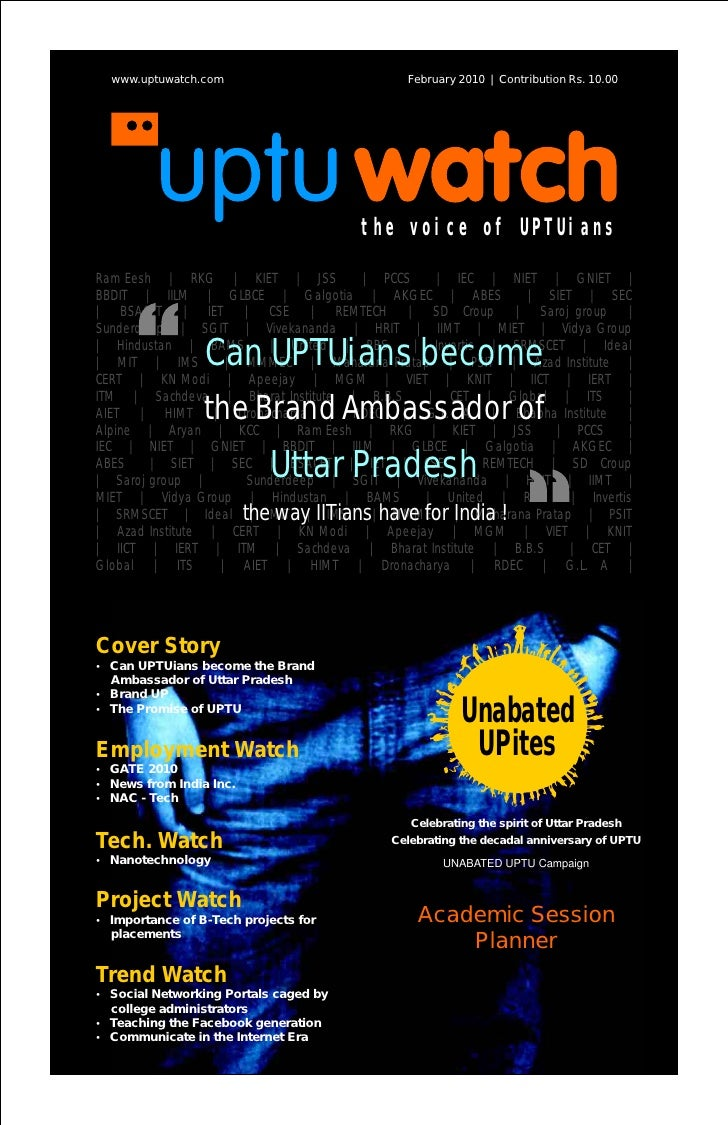 www.uptuwatch.com                        February 2010 | Contribution Rs. 10.00                                          t...