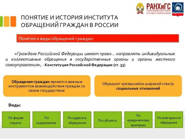 Дипломная работа на тему обращения граждан