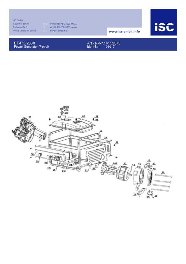 BT-PG 2000 Power Generator (Petrol) Artikel-Nr.: 4152373 Ident-Nr.: 01017