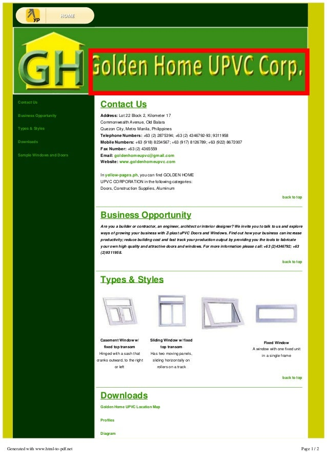 Contact Us  Business Opportunity  Types & Styles  Downloads  Sample Windows and Doors  Contact Us  Address: Lot 22 Block 2...