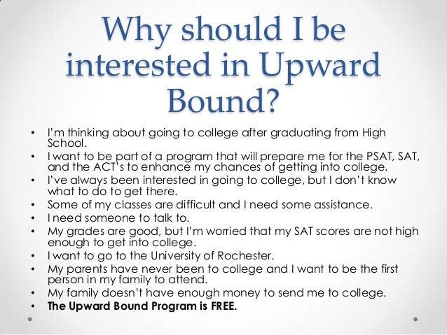 Upward bound essay