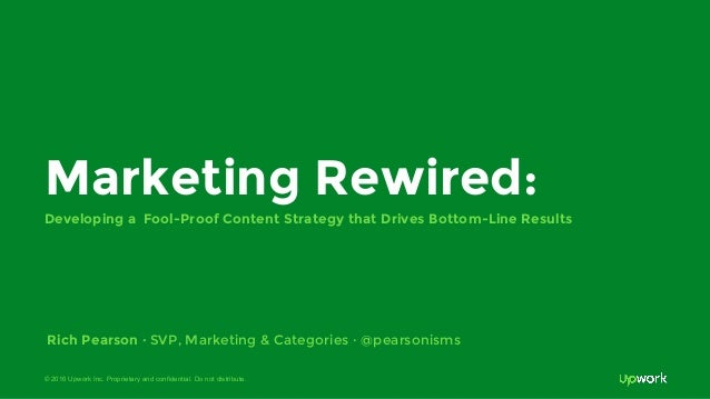 © 2016 Upwork Inc. Proprietary and confidential. Do not distribute. Marketing Rewired: Developing a Fool-Proof Content Str...