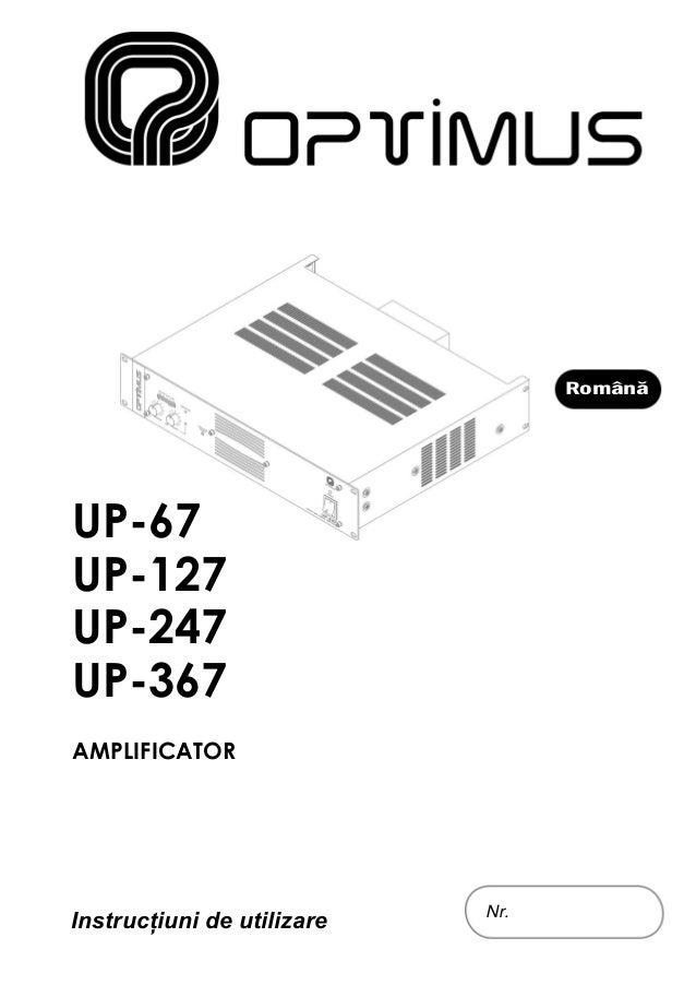 Manual de utilizare amplificatoare audio seria UP-x7 (romana)